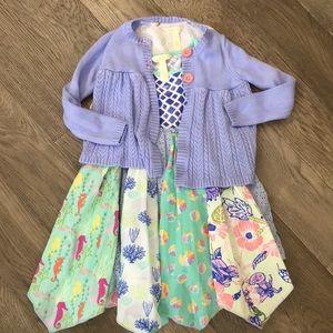 Matilda Jane girls dress & sweater outfit, 4